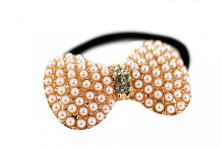 Elastique cheveux Noeud de perles