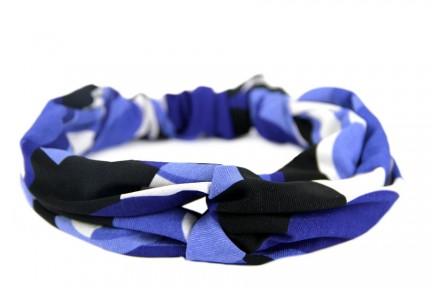 Bandeau bleu pour cheveux