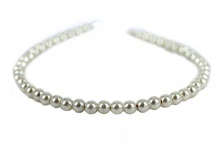 Serre tête mariage avec perles