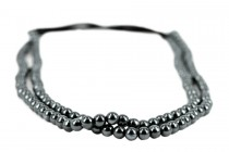 Headband perles grises