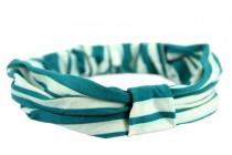 Bandeau cheveux bleu turquoise turban pour la plage