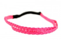 Headband tresse rose fluo