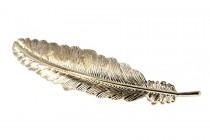 Barrette cheveux feuille dorée en métal