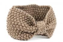 Bandeau en laine noir pas cher