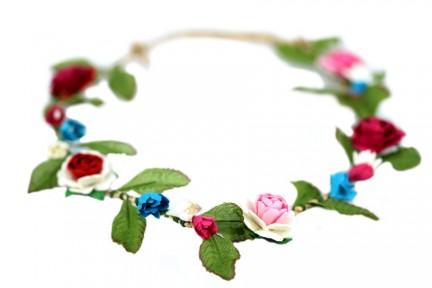 Couronne de fleurs Vintage