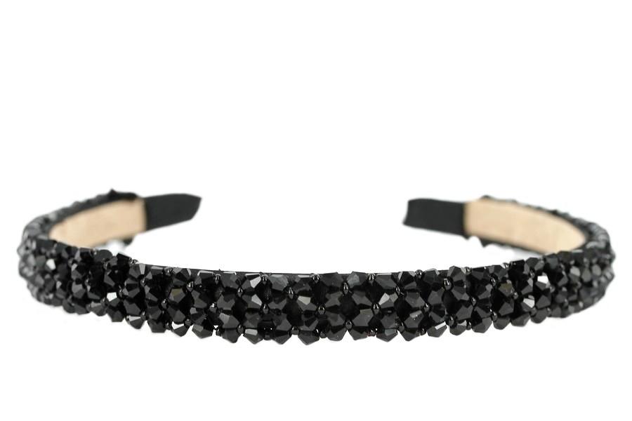 Serre-tête cheveux noir simple