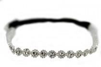 Headband fleur argent