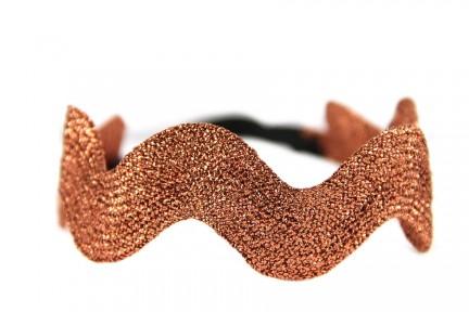 Bandeau doré pour cheveux