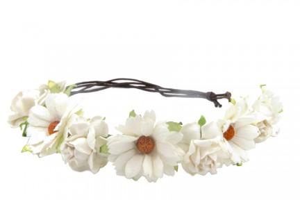Couronne de fleurs pour mariée
