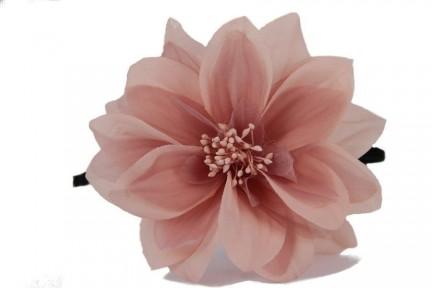 Serre tête fleur rose femme