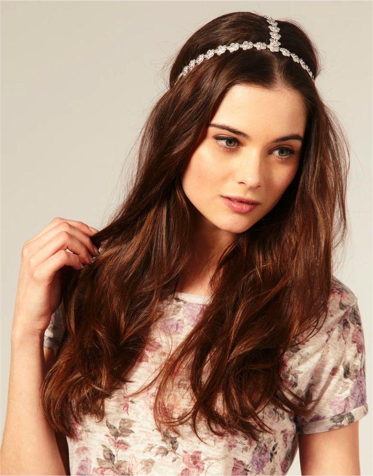 coiffure headband cheveux longs