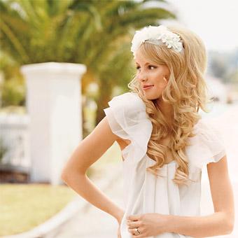 Idées coiffure de mariée avec des cheveux longs