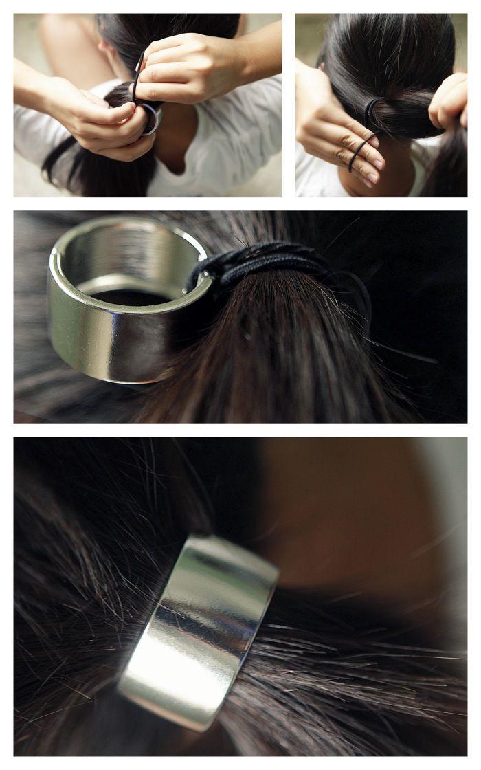 Se coiffer avec une bague cheveux