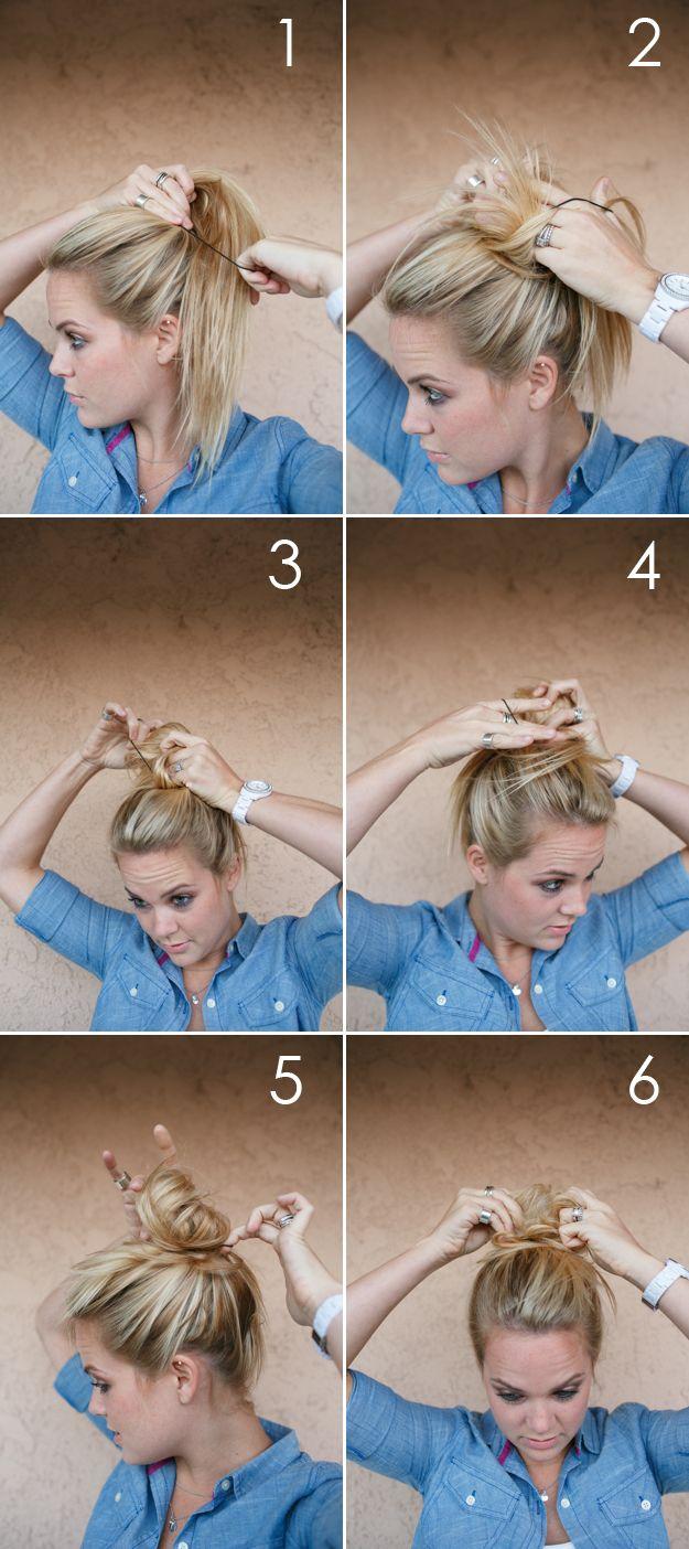 comment mettre un elastique dans les cheveux
