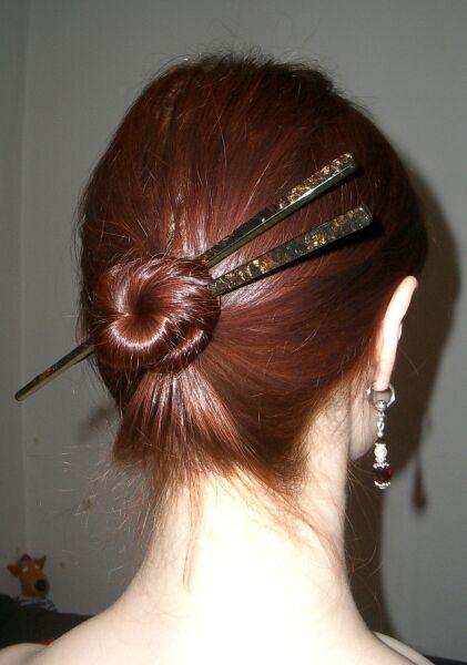 Id 233 Es De Coiffures Avec Pic 224 Cheveux Pour Chignon