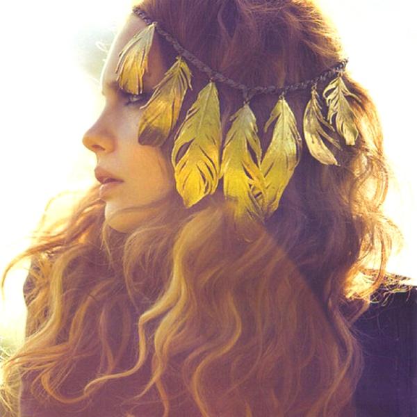 accessoires cheveux plumes