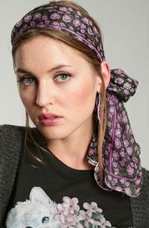 foulard cheveux technique