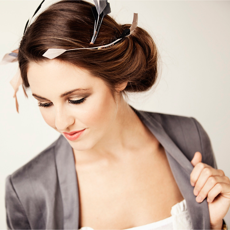 accessoires cheveux en plumes