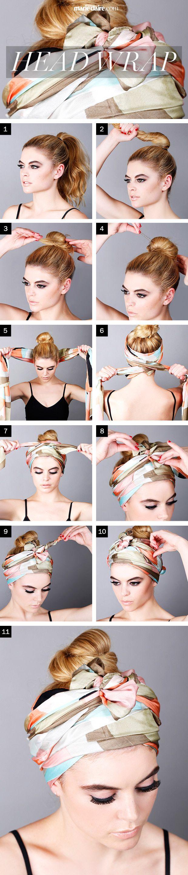 comment porter foulard en bandeau