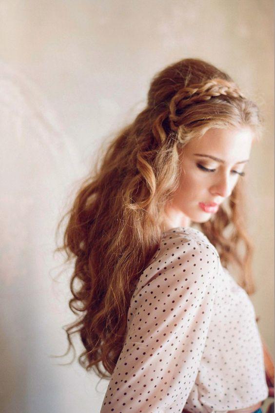 tresse cheveux boucles