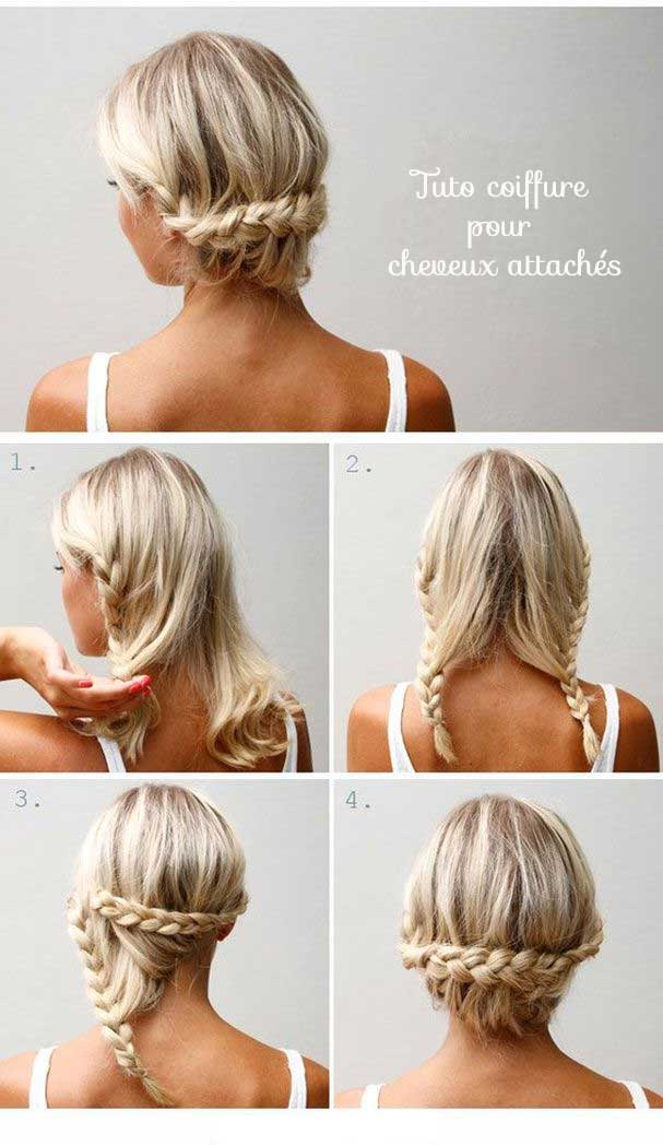 Idees Coiffures Cheveux Attaches