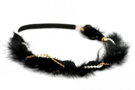 accessoires cheveux mariage plumes