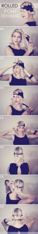 headband avec cheveux enroules