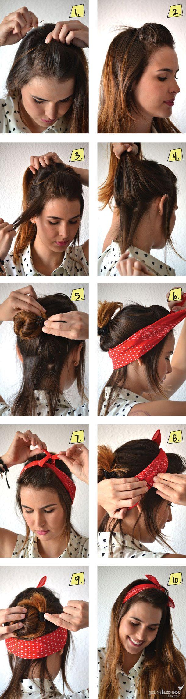 idee coiffure avec bandana