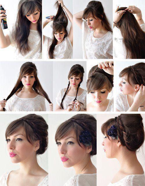 accessoires coiffure cheveux longs