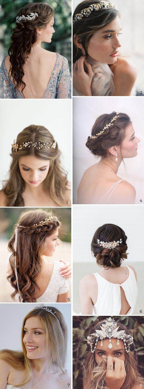bijoux de tête pour cheveux longs