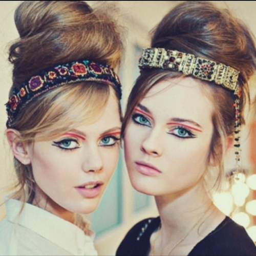 headband autour chignon