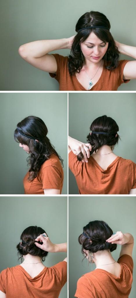 headband chignon romantique