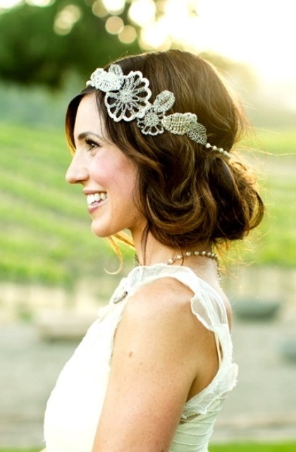 headband mariage cheveux courts