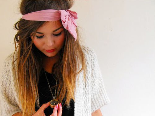 idee coiffure avec headband