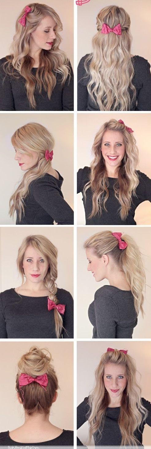idee coiffure barrette cheveux
