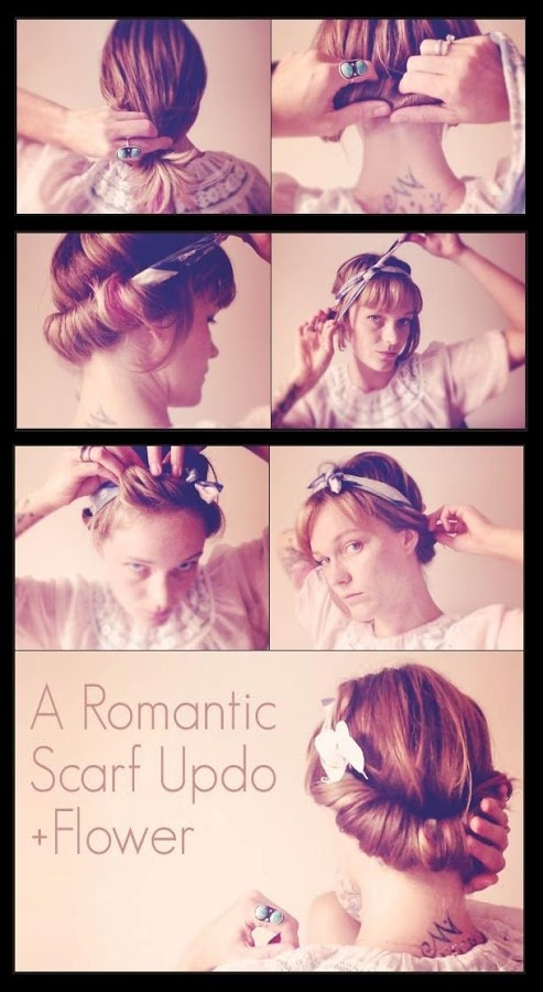 idee look foulard cheveux