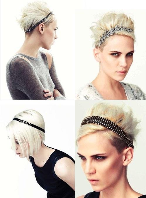 mettre headband cheveux courts