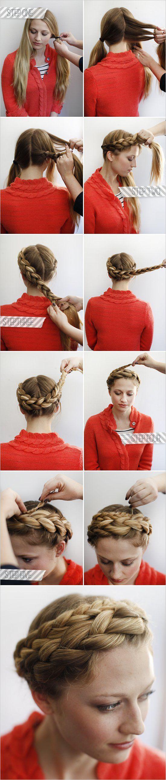 Comment faire une couronne tresse cheveux