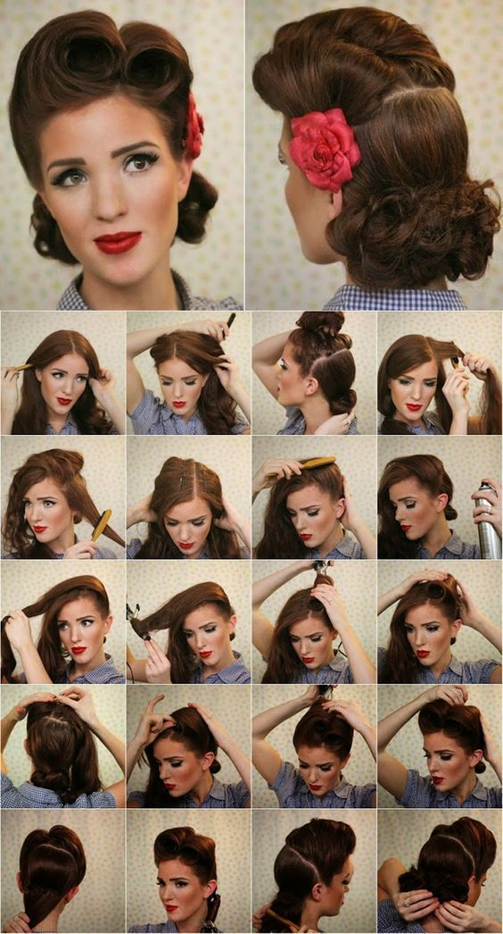 Coiffure Pin Up Cheveux Courts Longs
