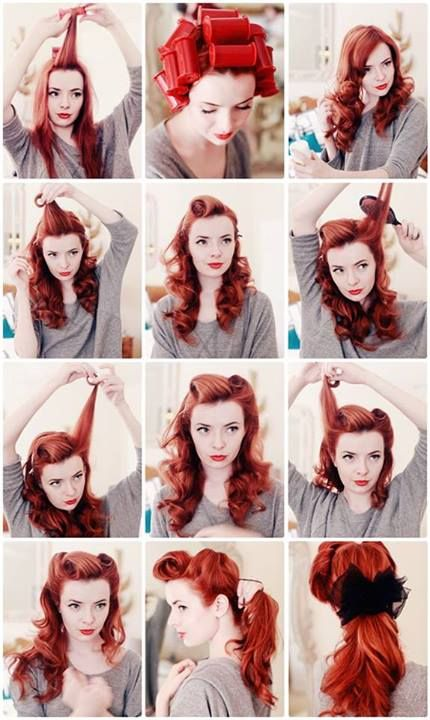 coiffure style pin up