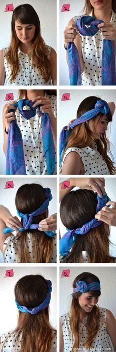 faire fleur avec foulard
