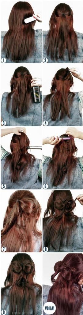 faire noeud avec cheveux