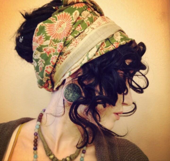foulard cheveux boucles