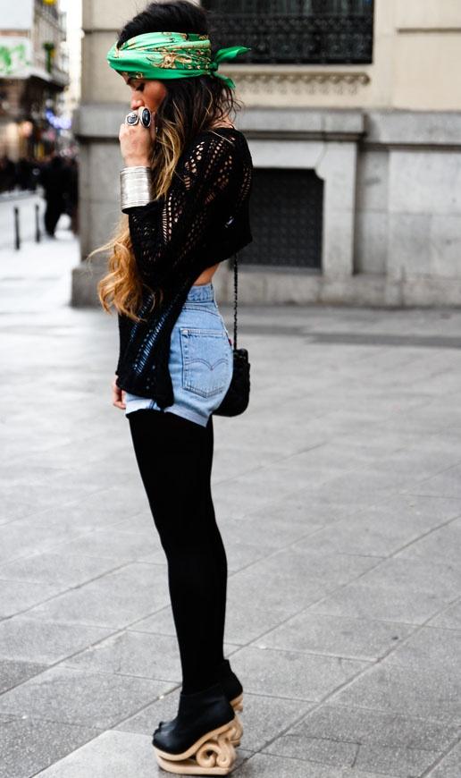 foulard cheveux tendance