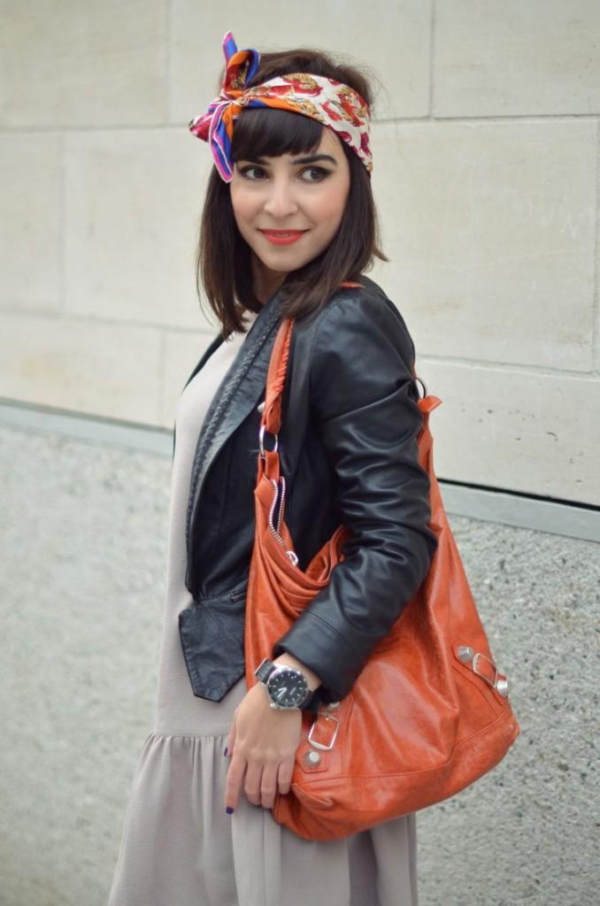 idee coiffure foulard cheveux