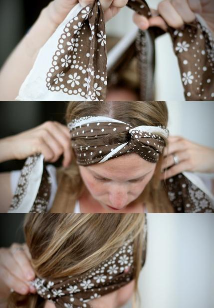 faire headband avec foulard