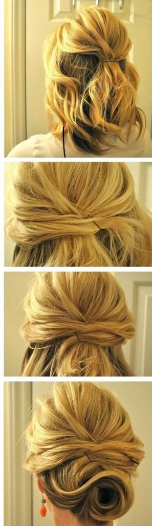 coiffures faciles cheveux longs epais