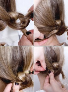 utiliser epingle chignon
