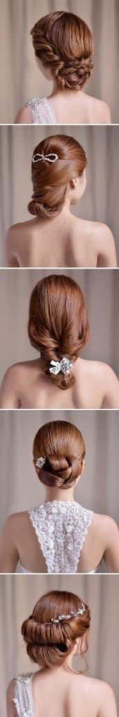 Coiffures faciles cheveux longs mariage