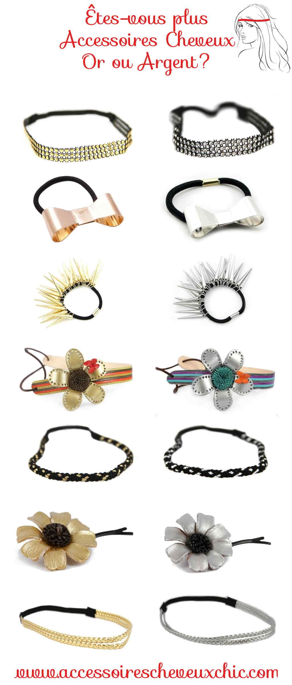 êtes vous plutôt accessoires cheveux argent ou or?